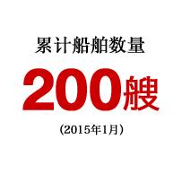 累计船舶数量200艘(2014年1月)