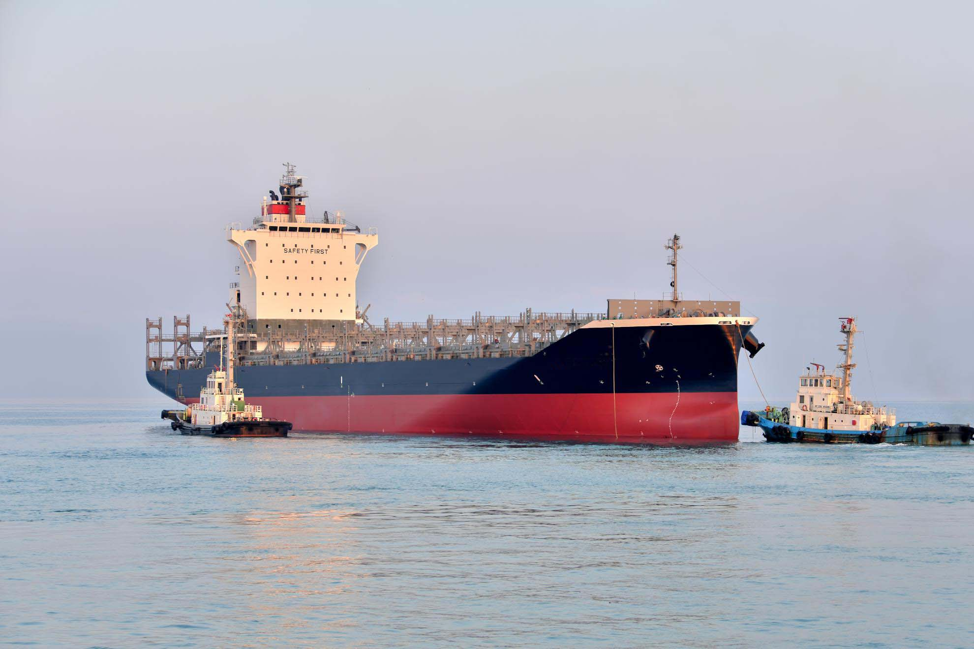 常石造船的菲律宾基地首次建造的1900TEU型集装箱船的第一艘船舶