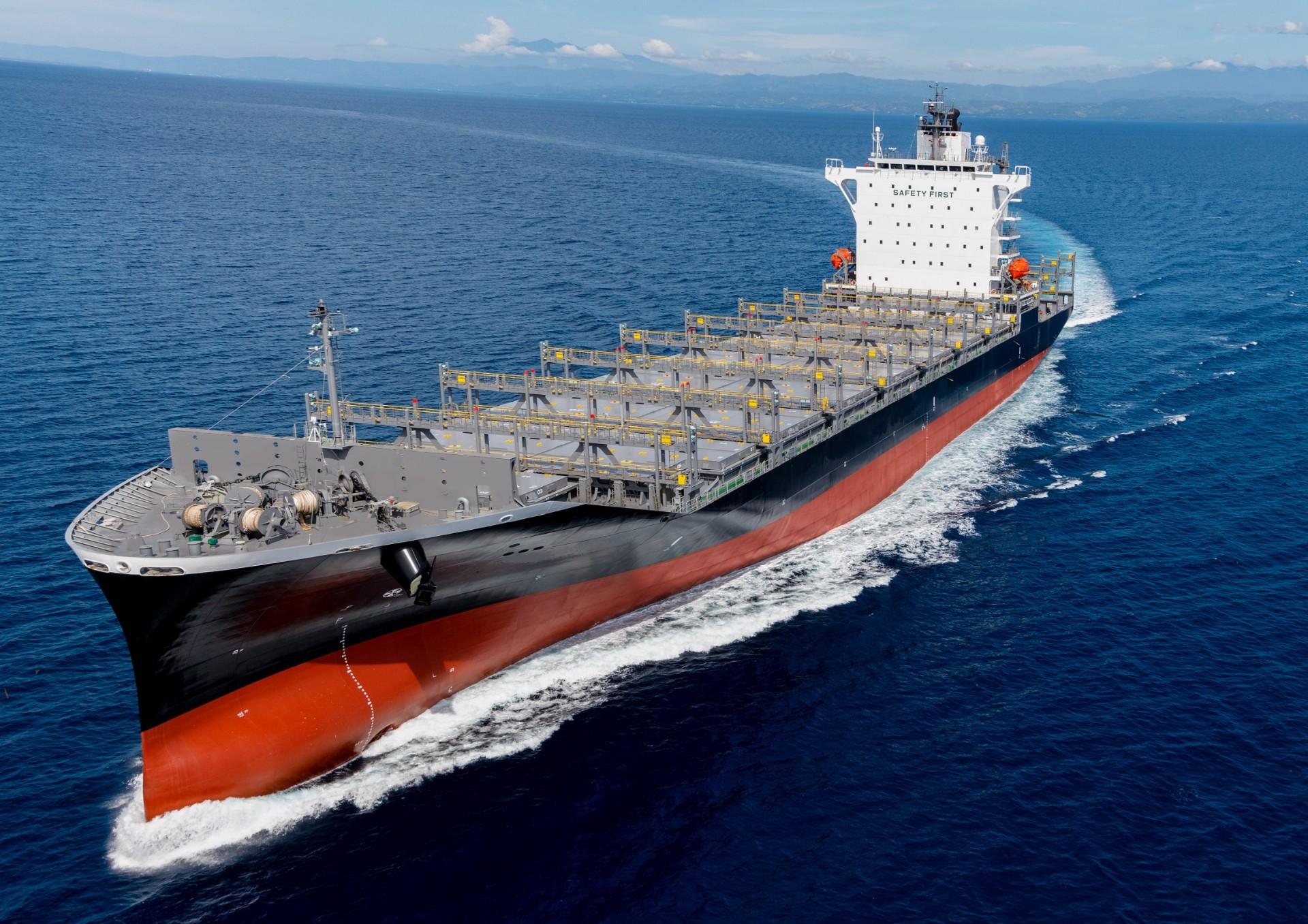 常石造船菲律宾基地首次建造的1900TEU型集装箱船