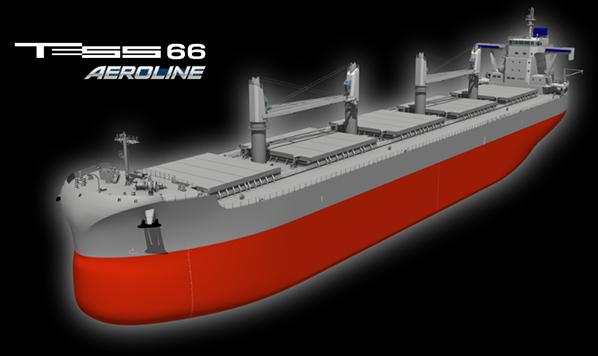 """公司官网上发布有关新船型""""TESS66 AEROLINE""""的信息"""