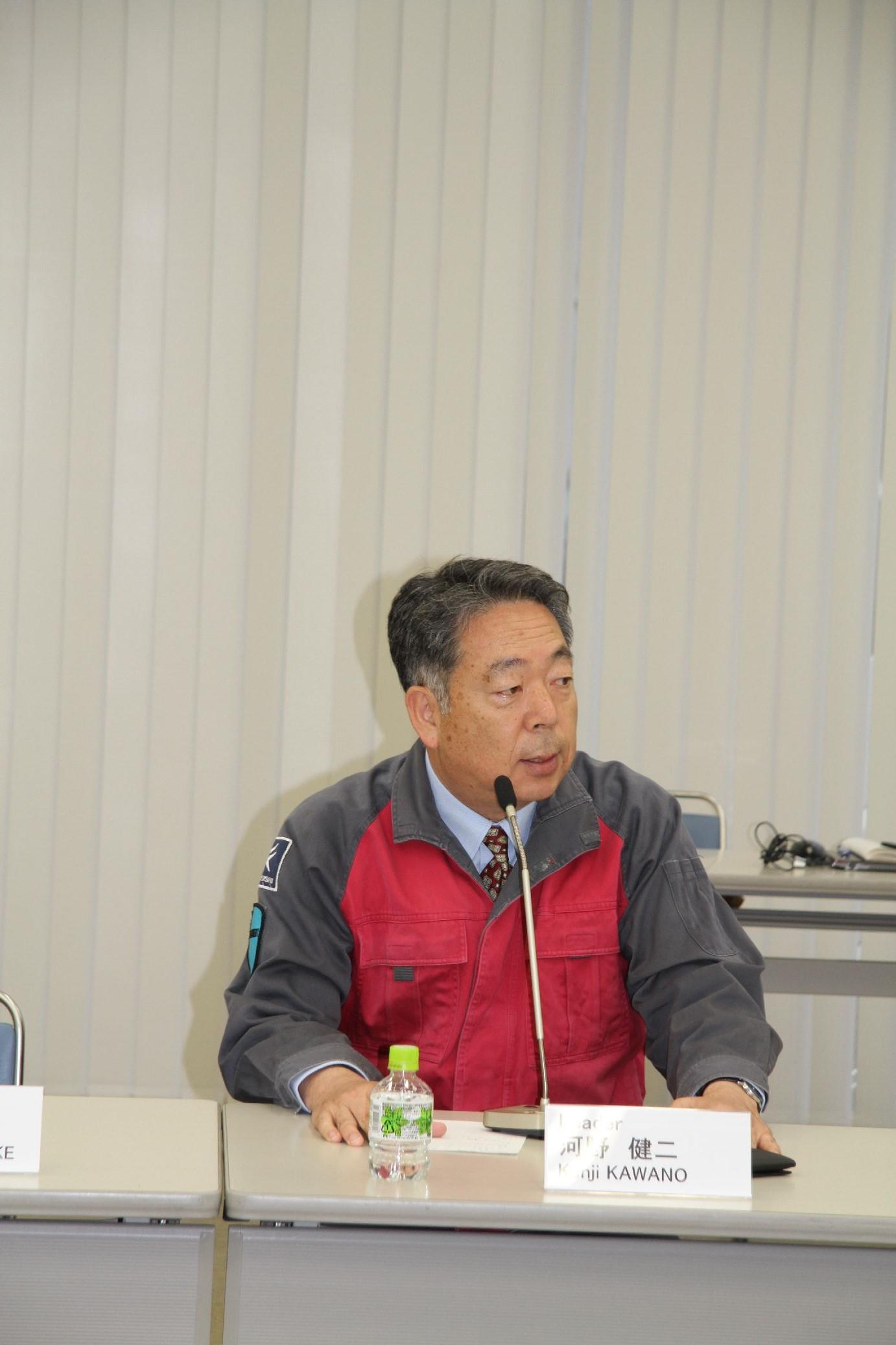 Speech from President Kenji Kawano of TSUNEISHI