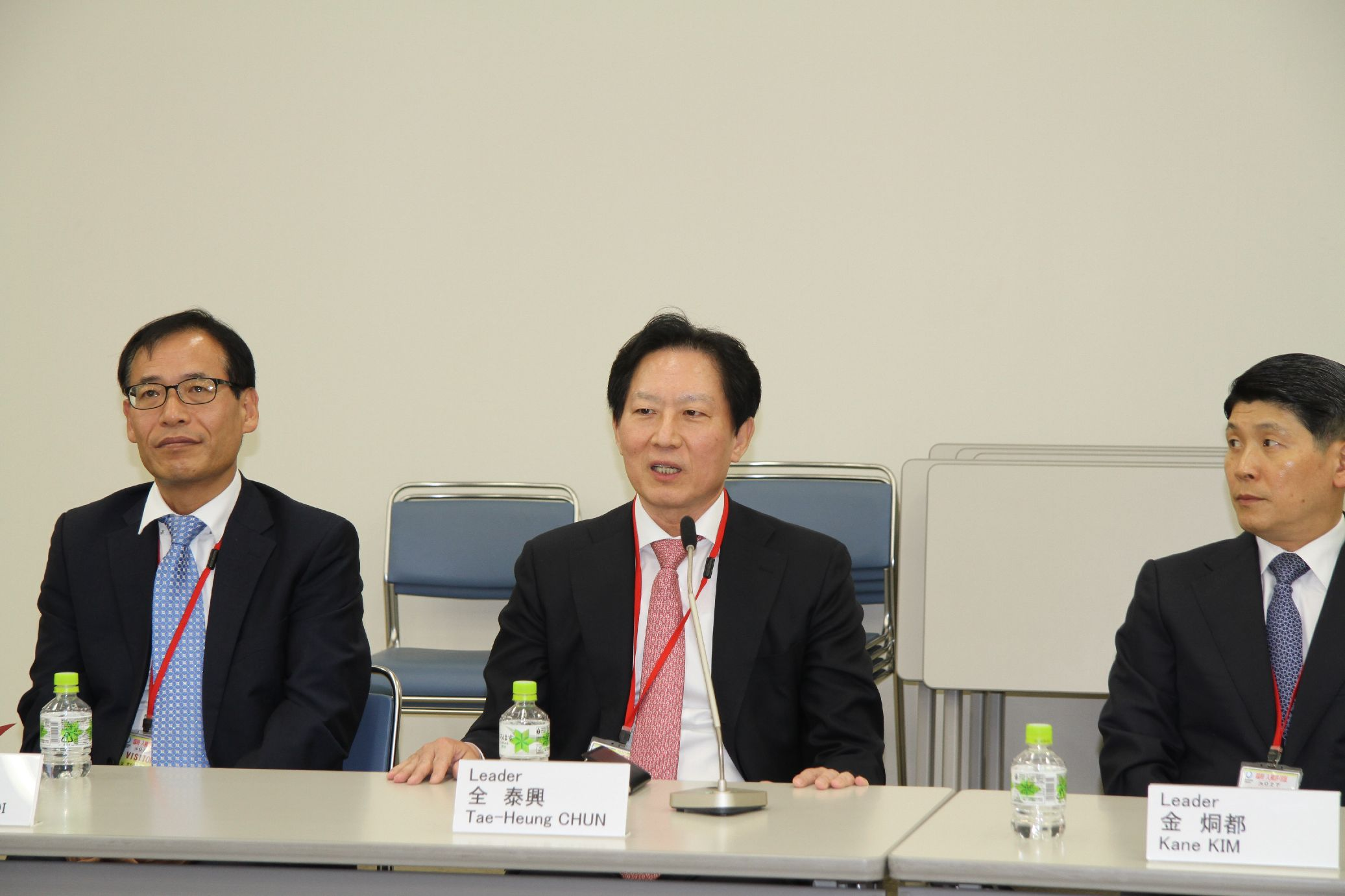 Vice President Jeon Tae-Heung gave a speech