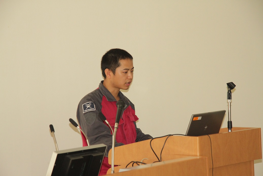Presentation by chinese trainee