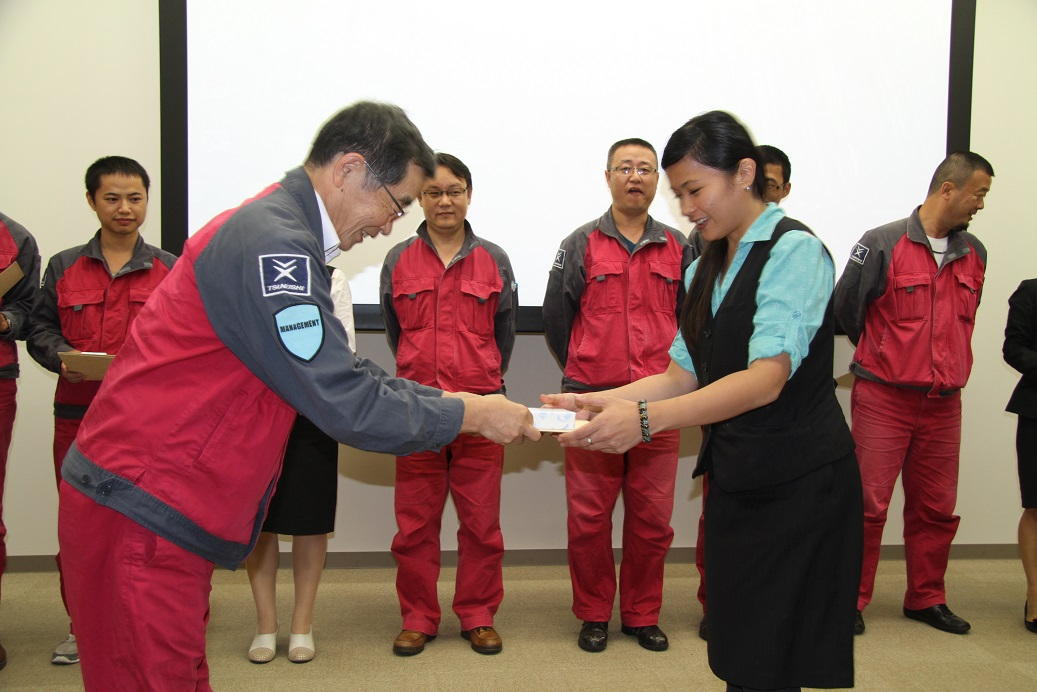 Received Certificate from Fujii Executive Director