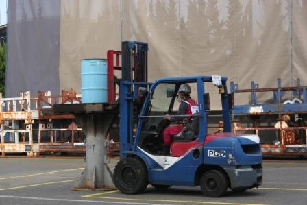 Operating Forklift