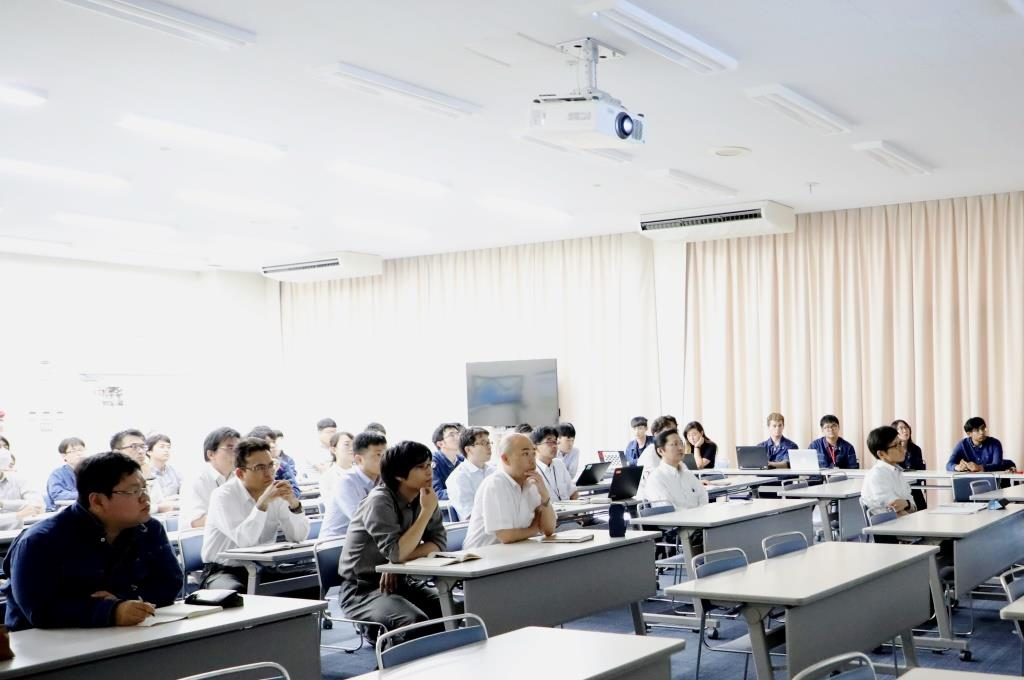 TSUNEISHI SHIPBUILDING's employees attended the meeting