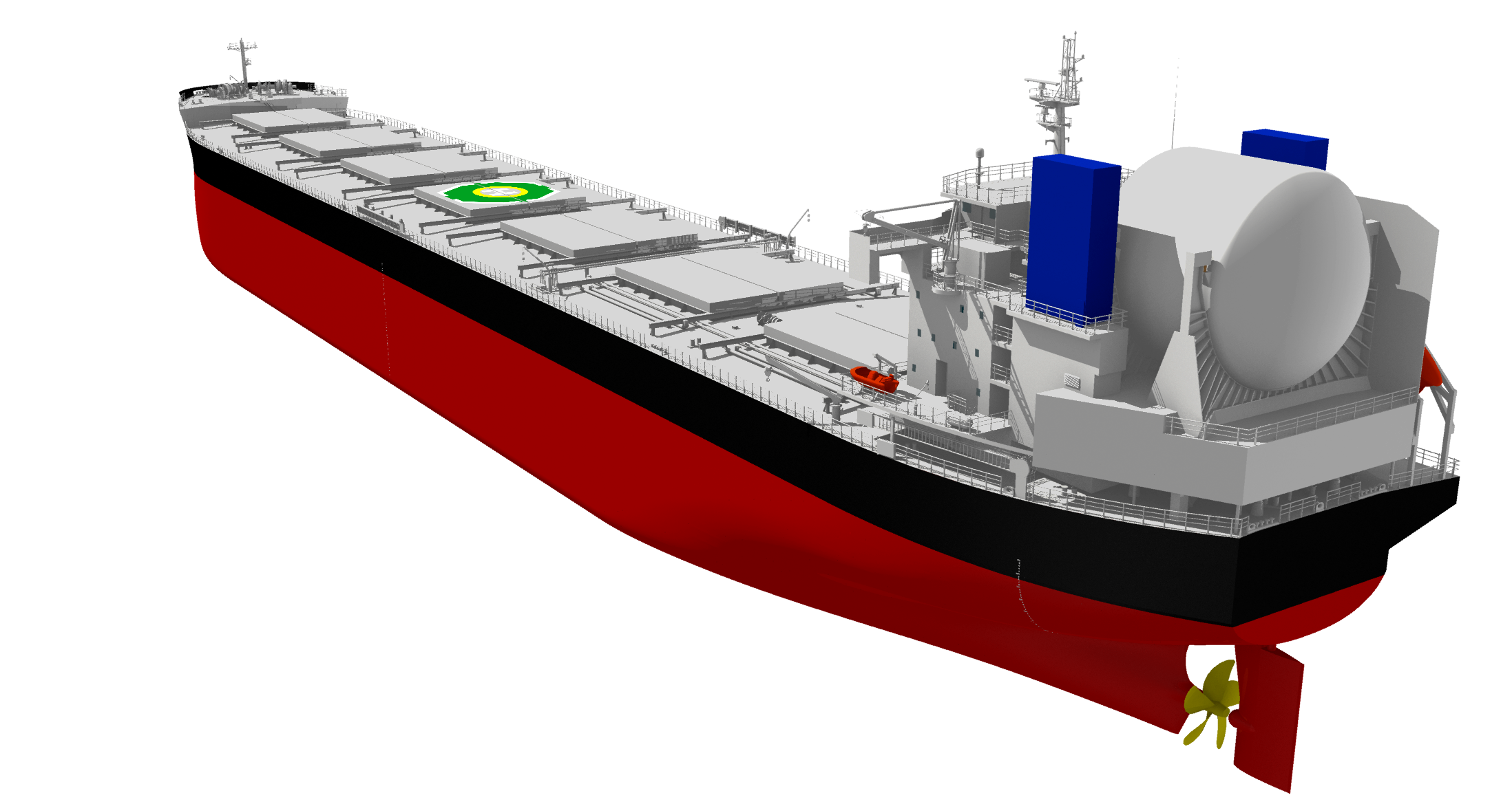 """The LNG / fuel oil dual-fuel-operated bulk carrier """"KAMSARMAX GF"""" that acquired the AIP"""