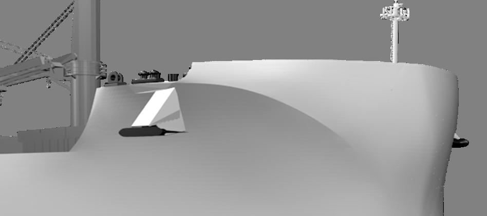 流線型の船首上部