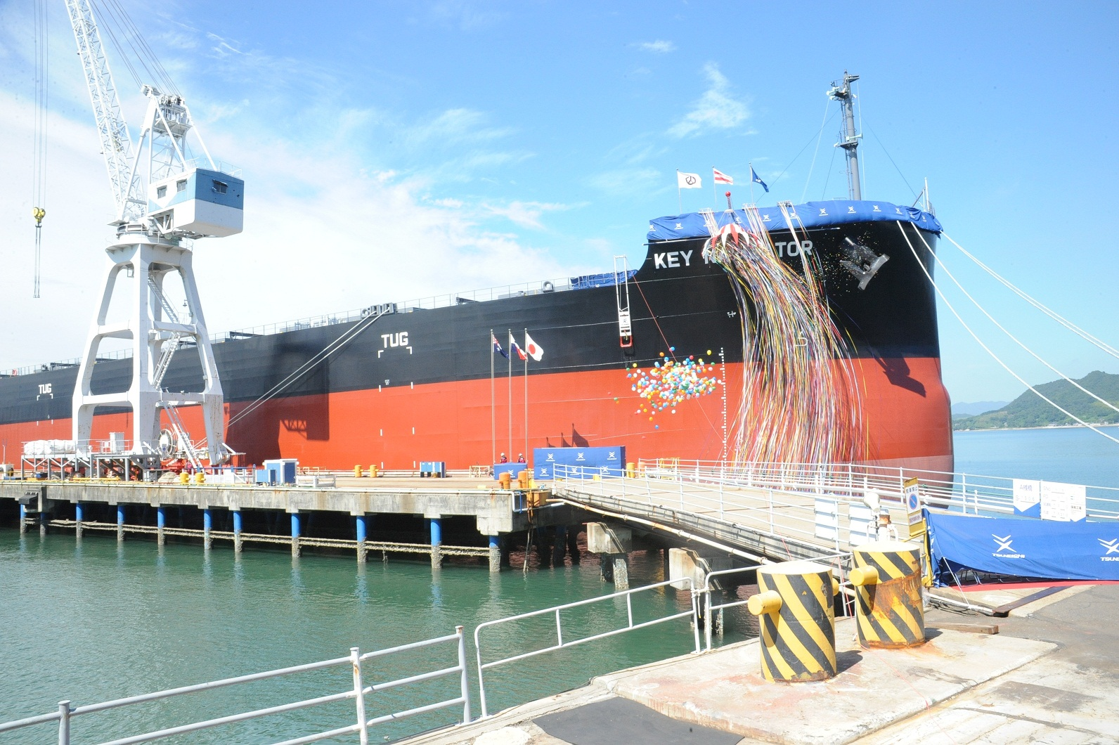 """TSUNEISHI SHIPBUILDING Co., Ltd., a Group Company of TSUNEISHI HOLDINGS CORPORATION, Completes and Delivers the Group's 188 th """"KAMSARMAX"""" Bulk Carrier"""