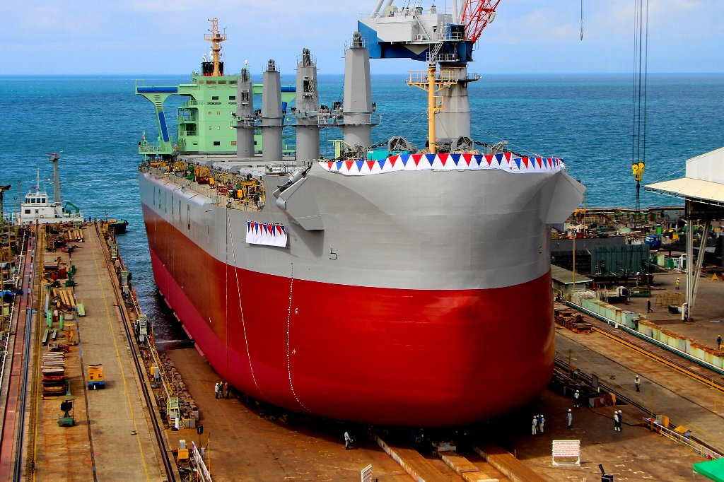 Launch Of First D W 57 500 Mt Type Bulk Carrier Tess58