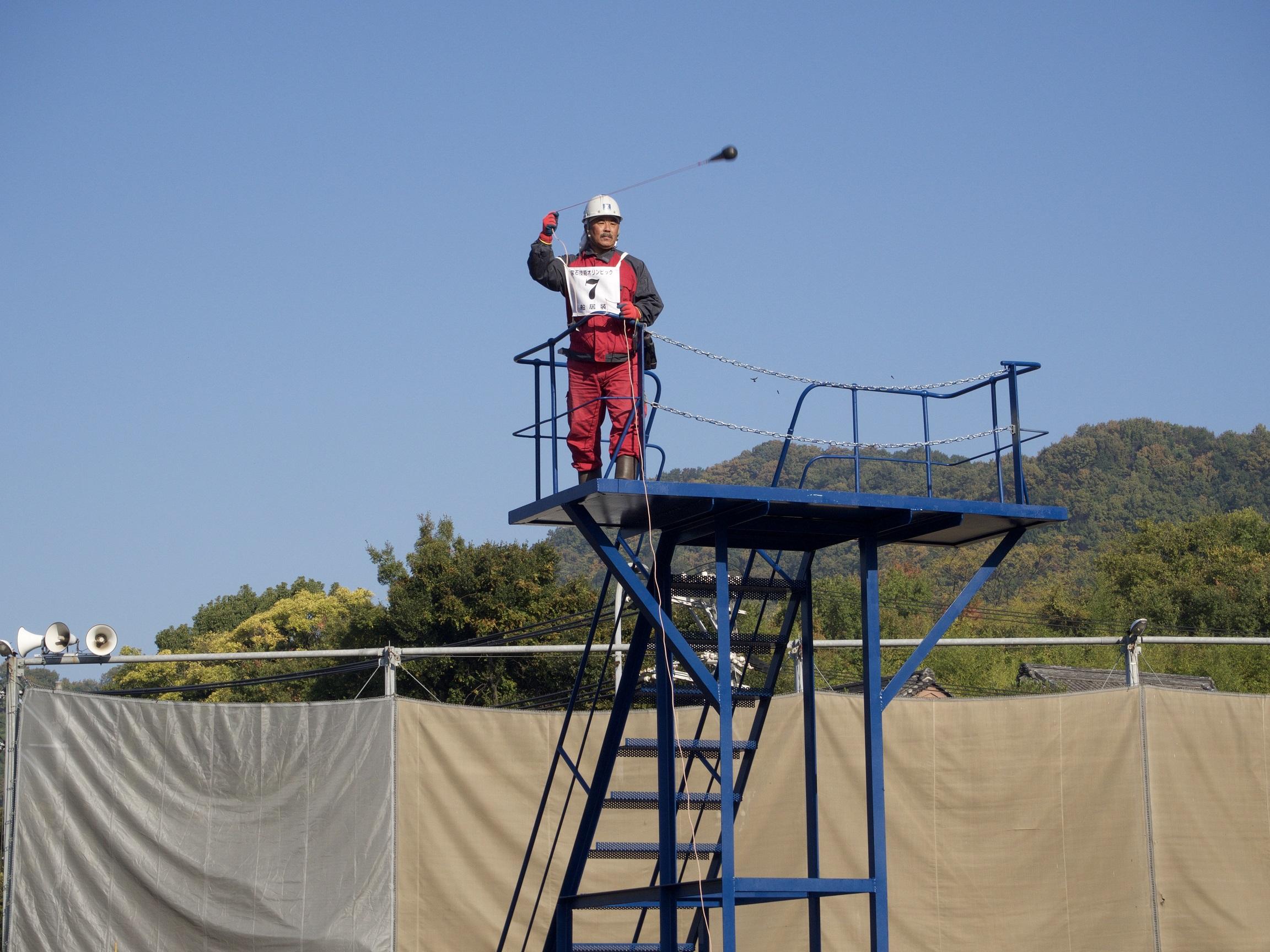 ヒービングロープ投げ競技
