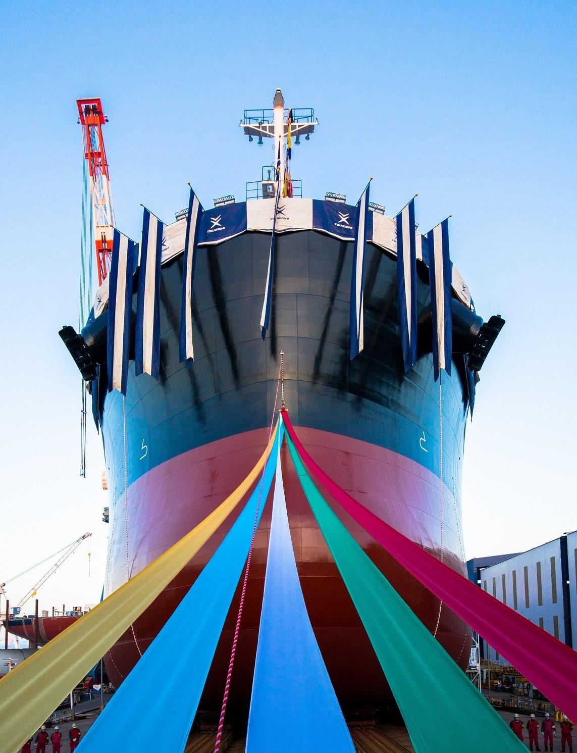 進水式イメージ(実際の船とは異なります)