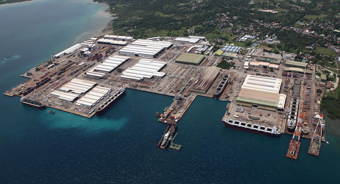 300隻の竣工を達成したTHI工場の全景