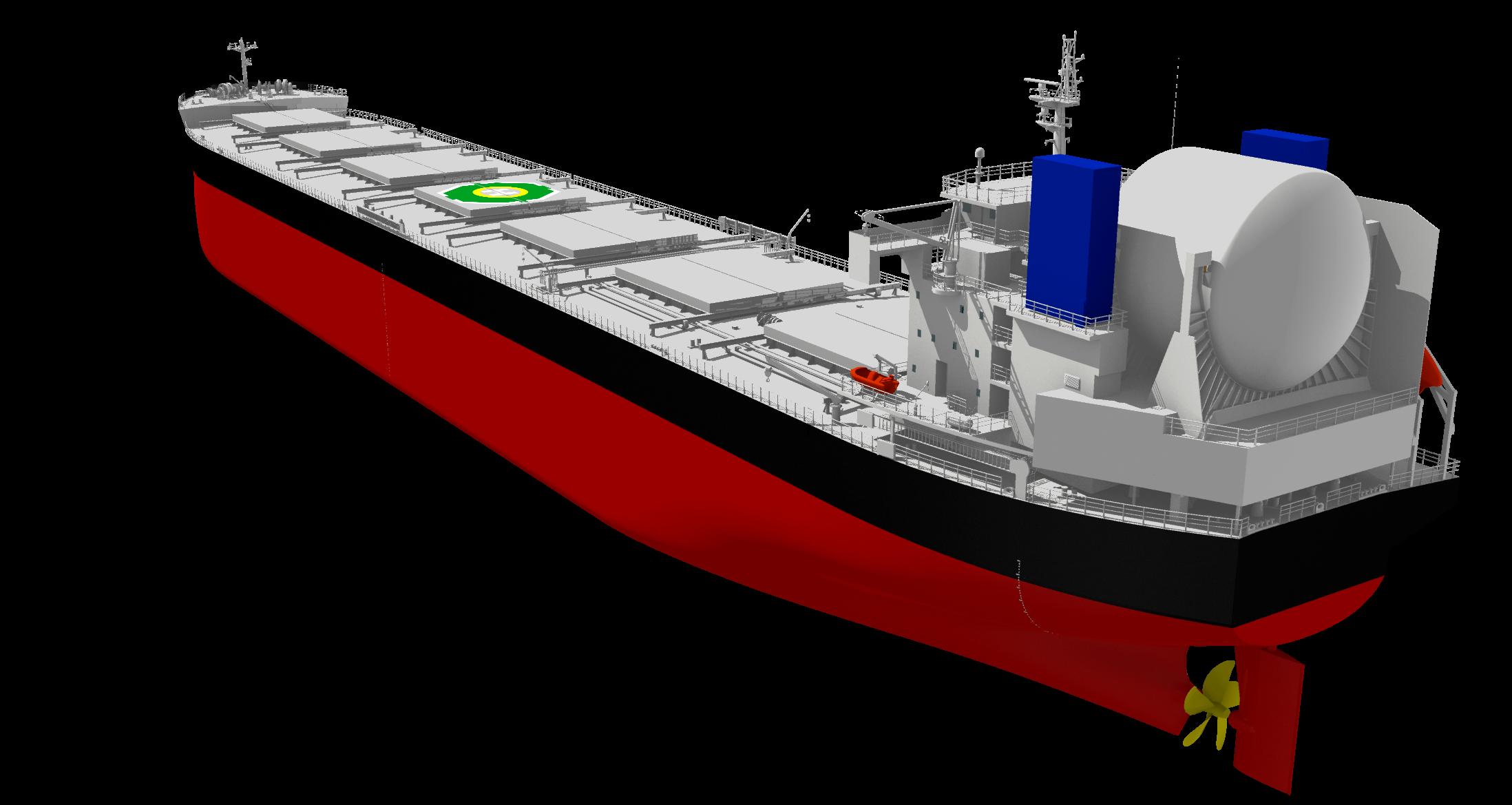 """AIPを取得したLNGと重油による二元燃料焚きのばら積み貨物船""""KAMSARMAX GF"""""""